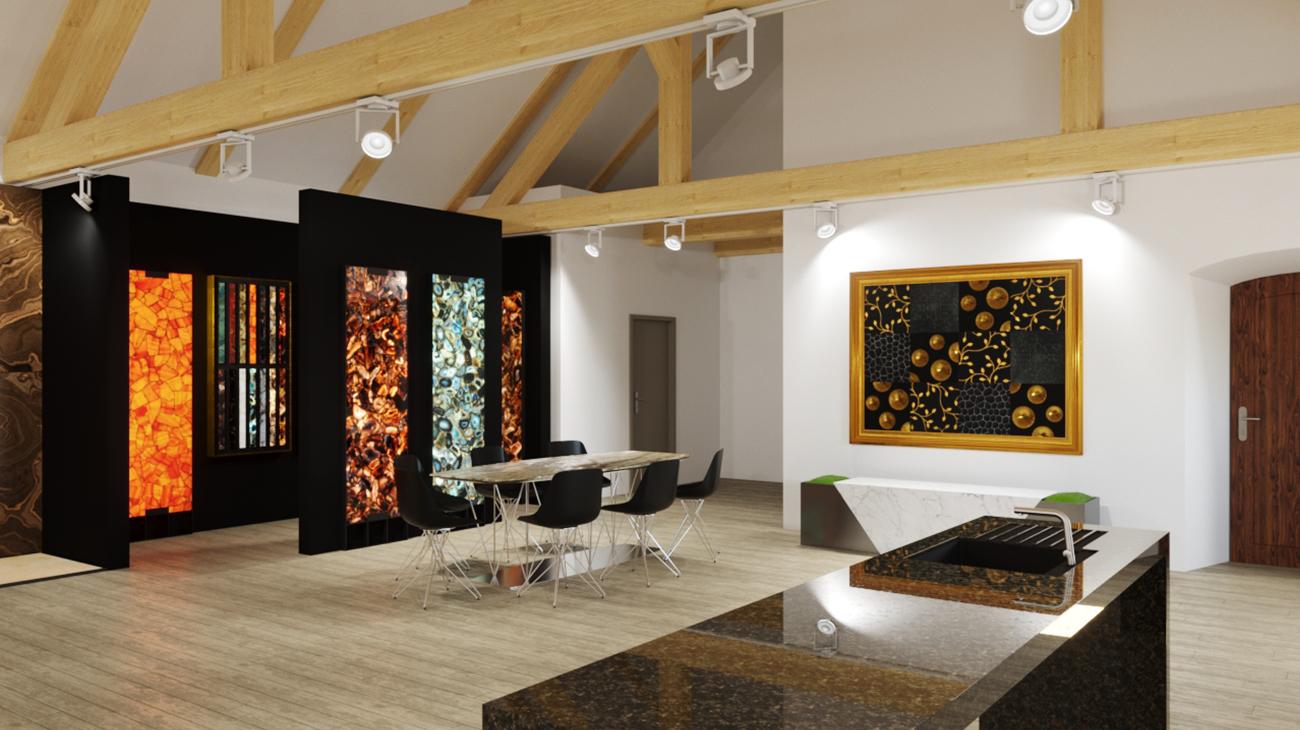 3D render interiéru