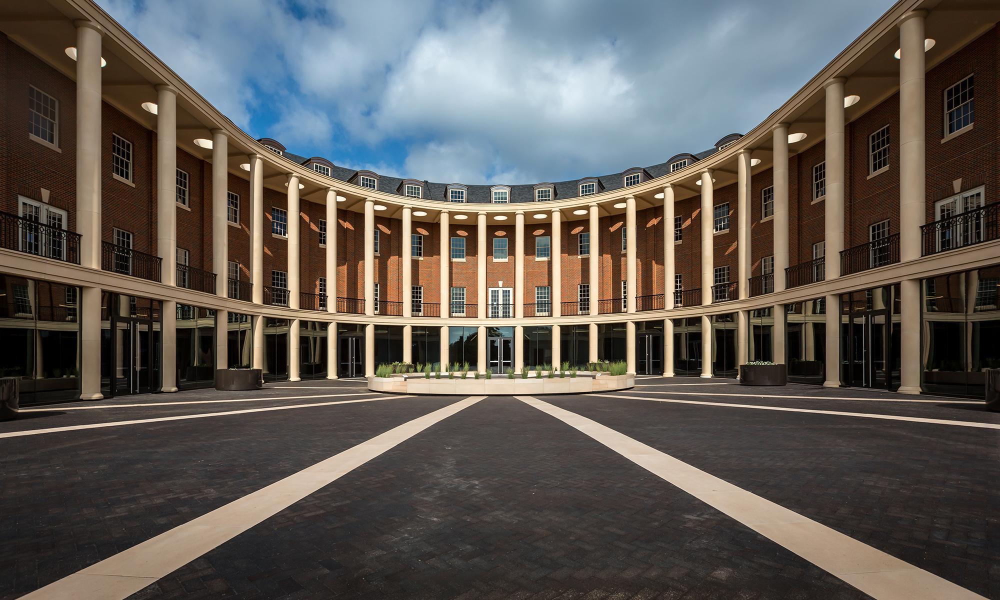 OSU Spears School of Business Courtyard