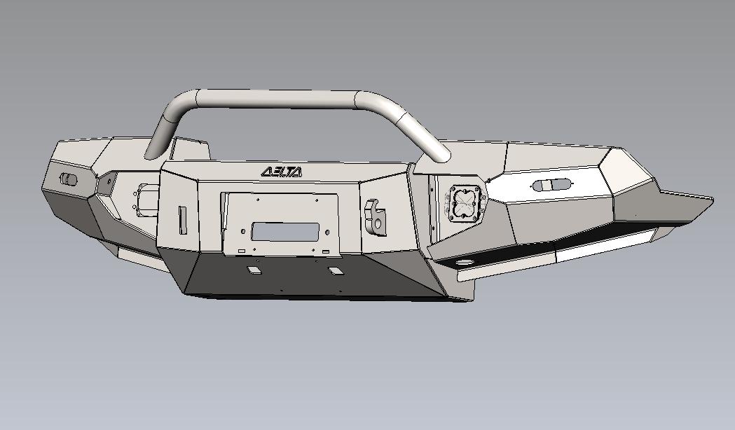 CAD model of FZJ-80 bumper