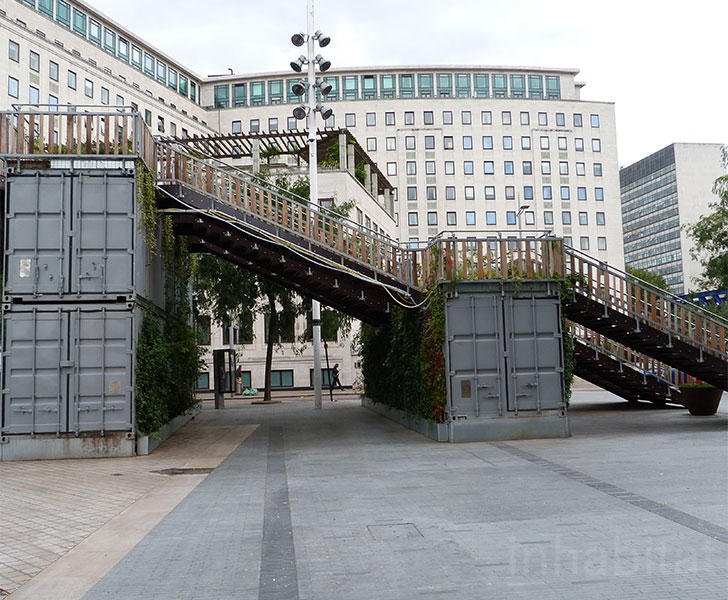 Public stairs made with shipping containers