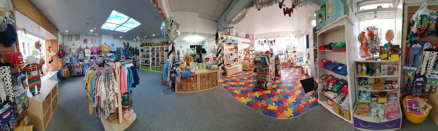 360 degree view of the just jonah shop interior