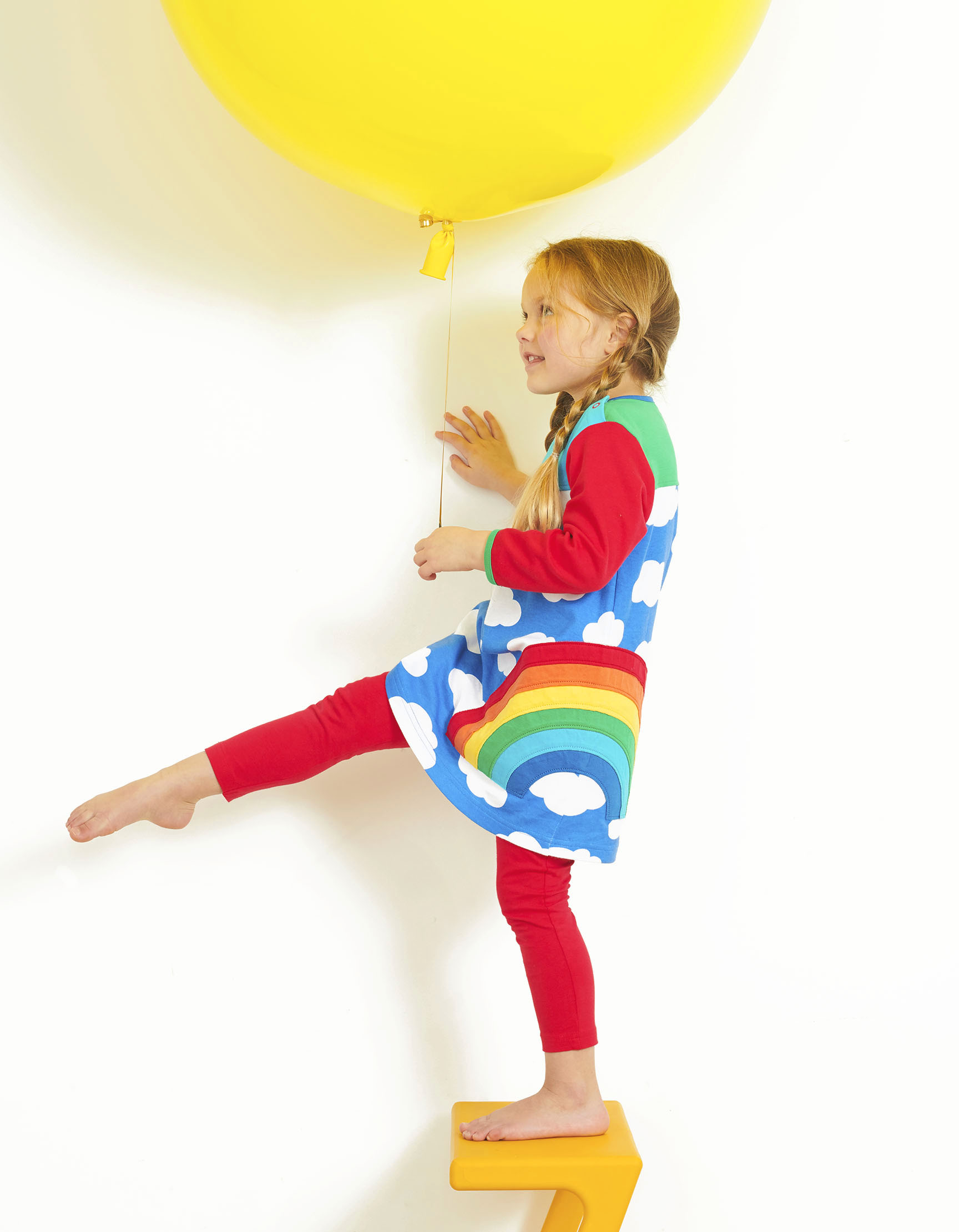 Multi Rainbow Applique Dress