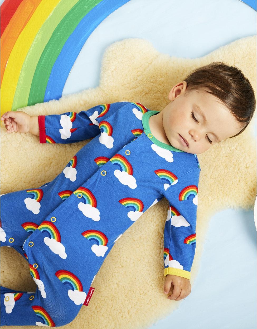 Organic Rainbow Print Sleepsuit