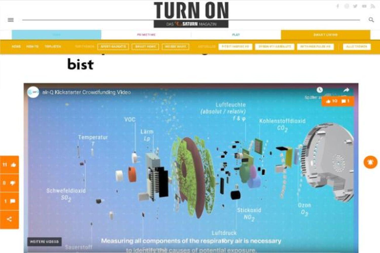 Saturn Startup Chemnitz Gesundheit Luftqualitätsmesser