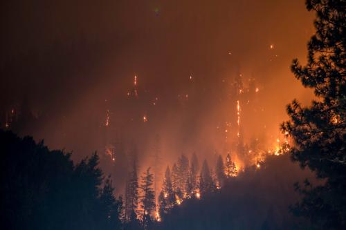 Waldbrand Asthma air-Q Luftqualität Klimawandel