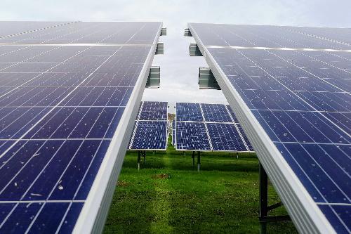 Solarertrag verschmutzter Luft