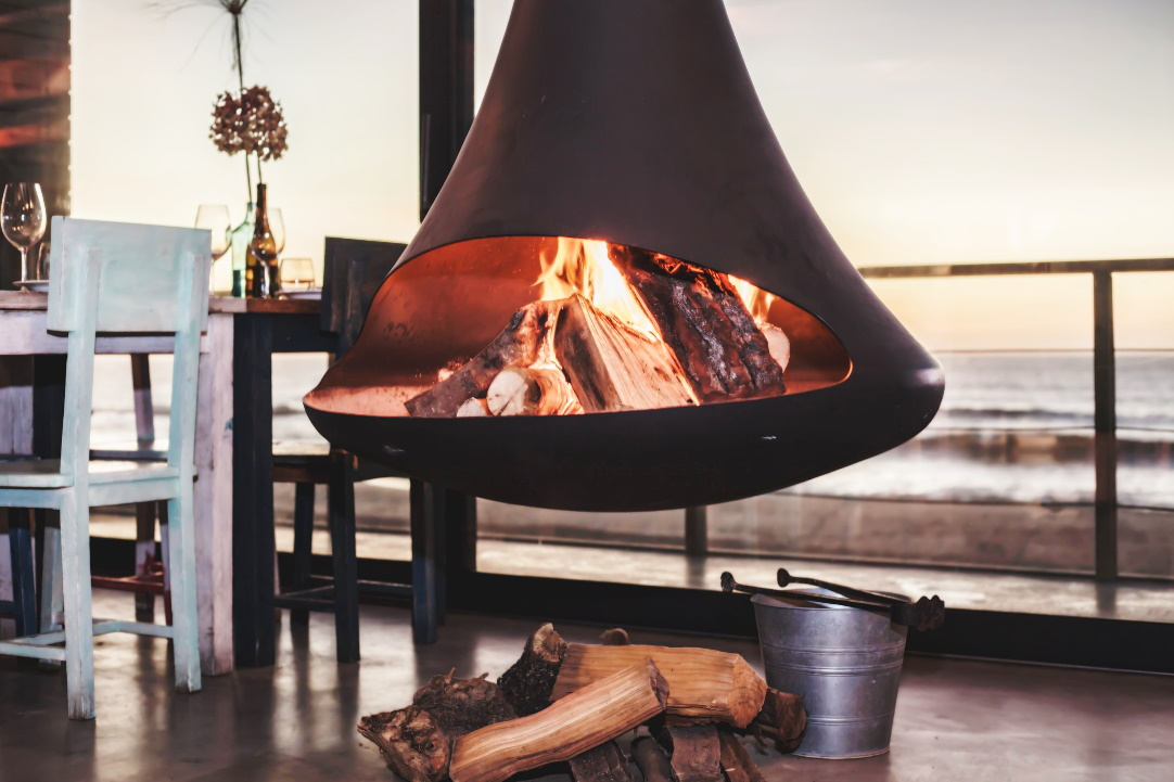 Heizen mit Holz Kamin offen Feinstaub PAK Kohlenmonoxid