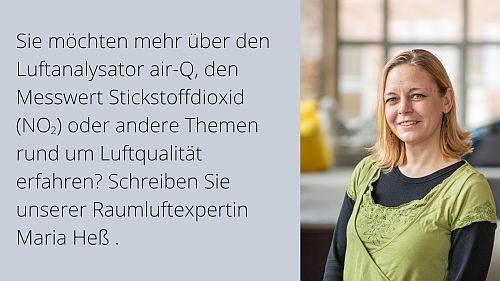 Maria Heß, Raumluftexpertin air-Q