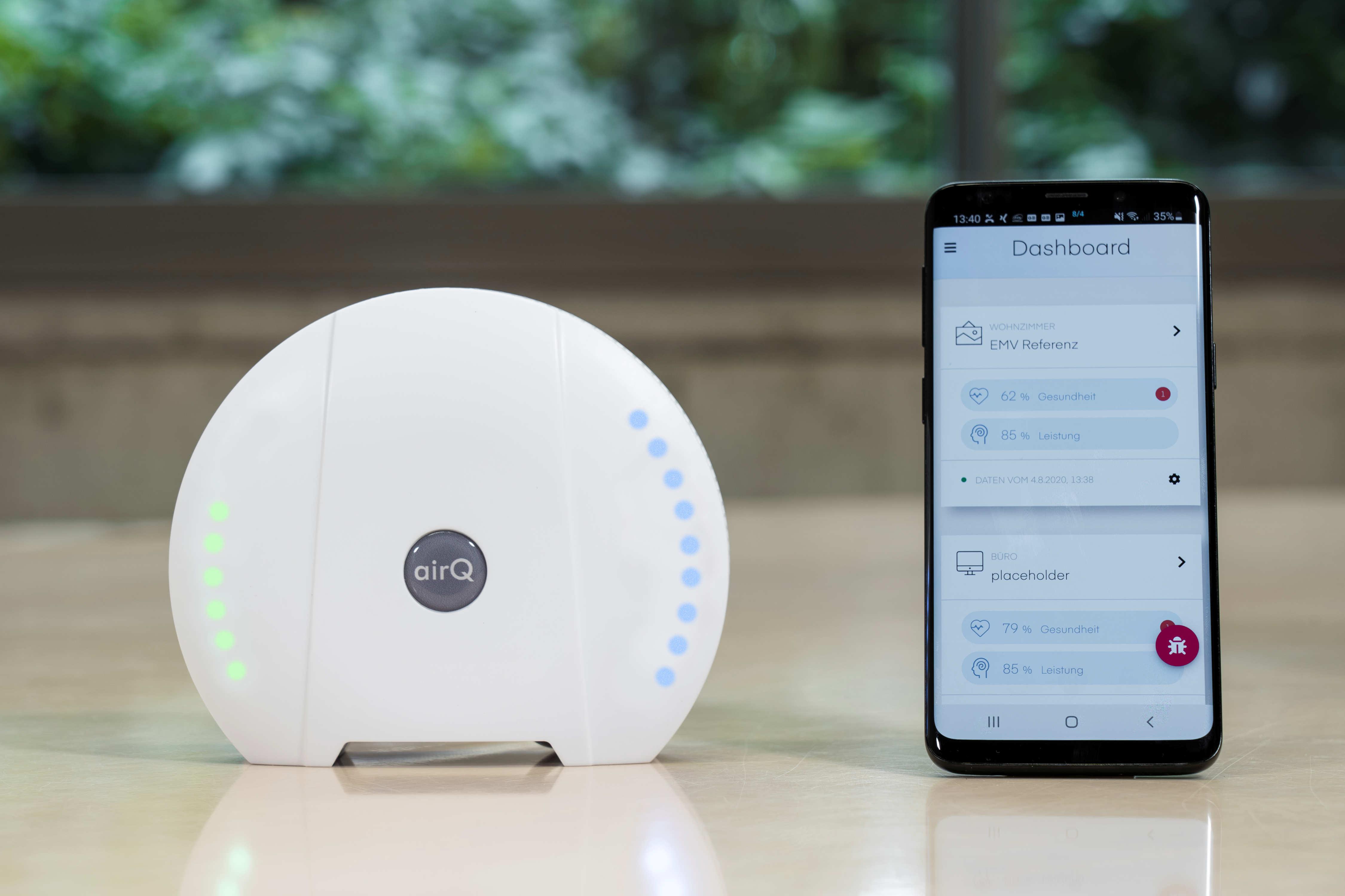 air-Q Luftmessgerät mit Smartphone App