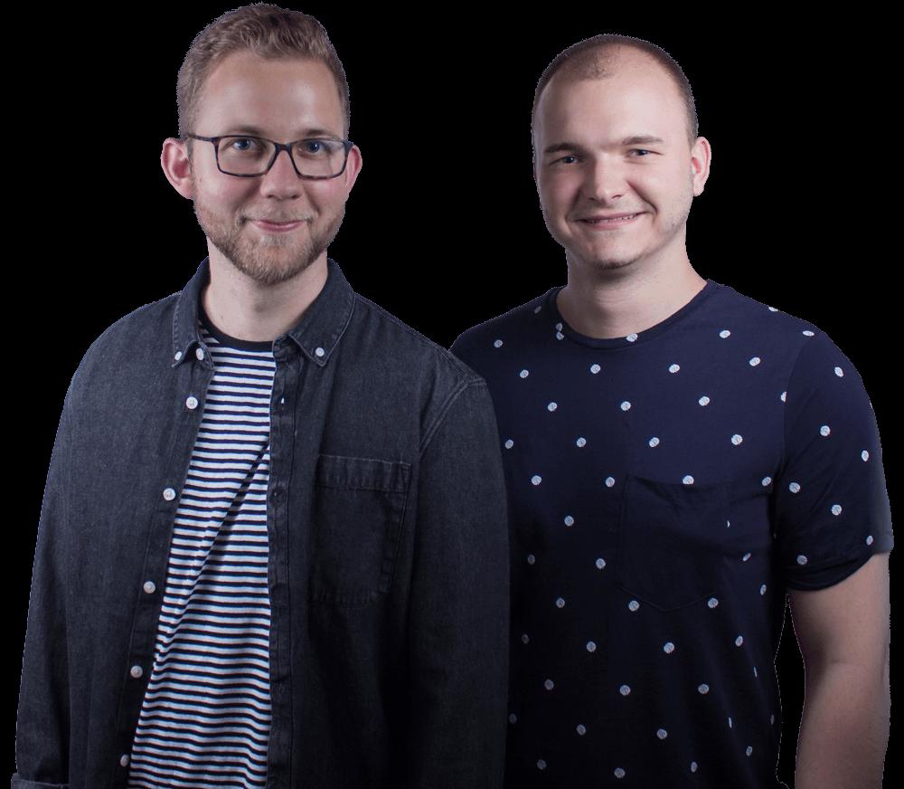 Das Team hinter Vibrand Design - Lucas Pätschke und Dennis Karg.