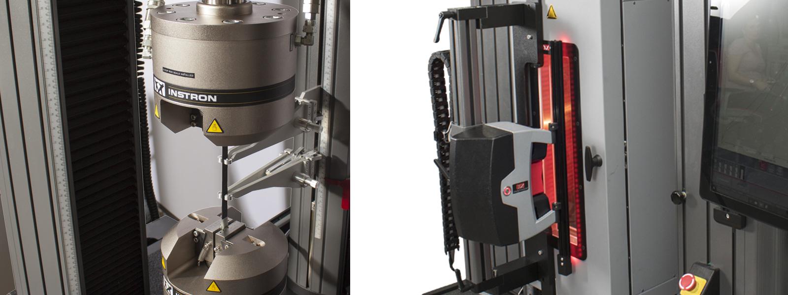 Extensómetros para pruebas de composites.
