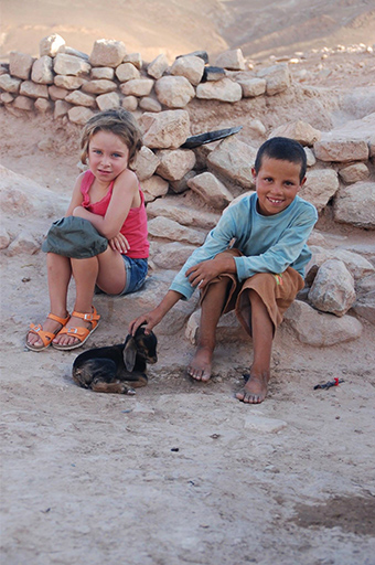 children encountering in Morocco