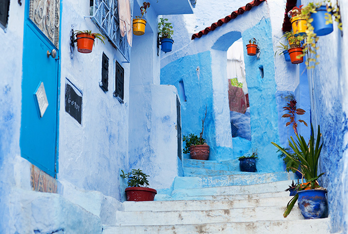 Chefchaouen street, Morocco