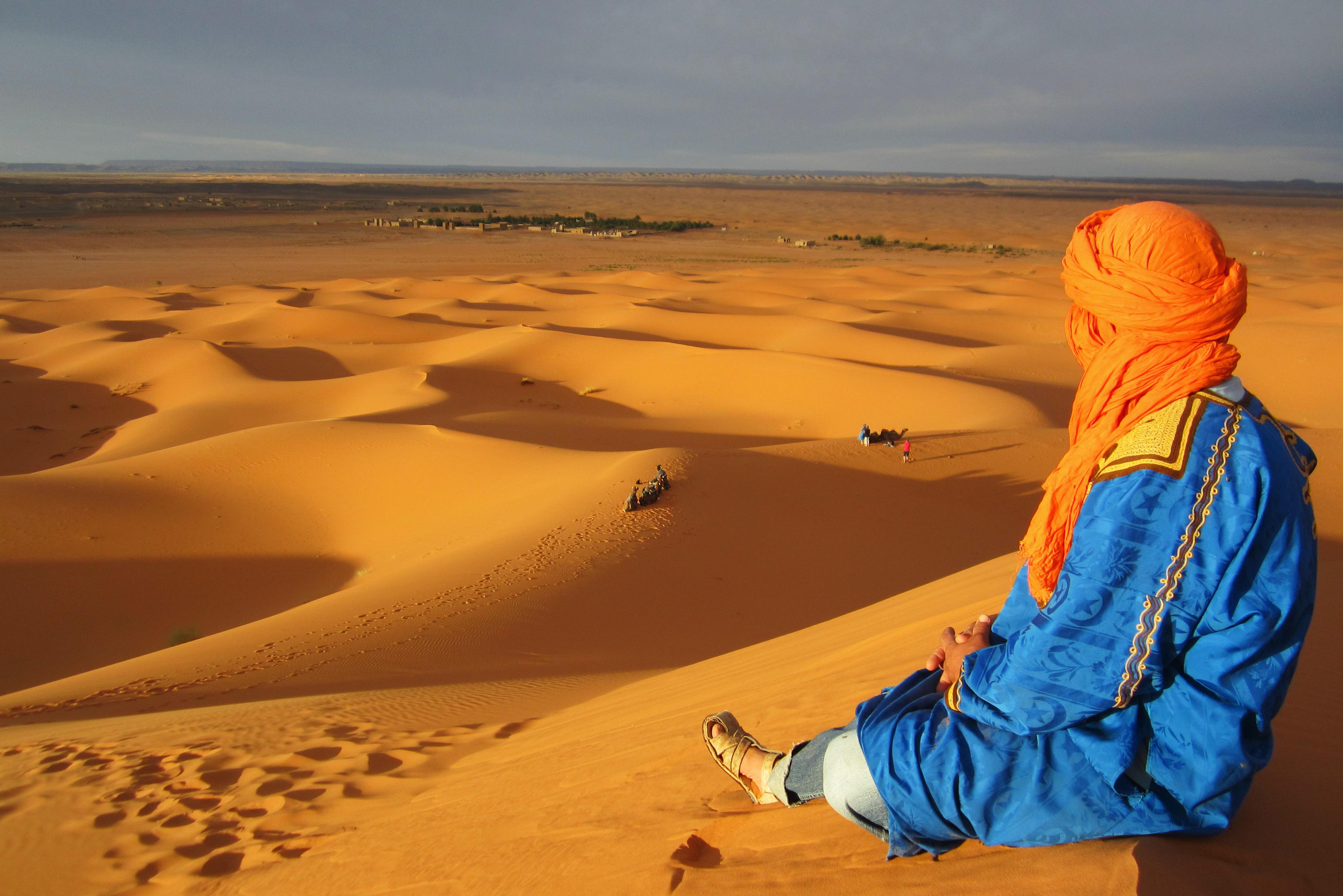 berber in the moroccan desert, Merzouga, Morocco