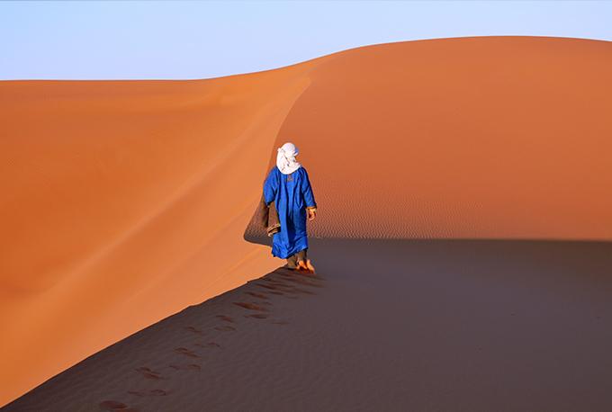 berber in the moroccan desert, Morocco