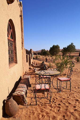 dining table in the Moroccan desert, Morocco