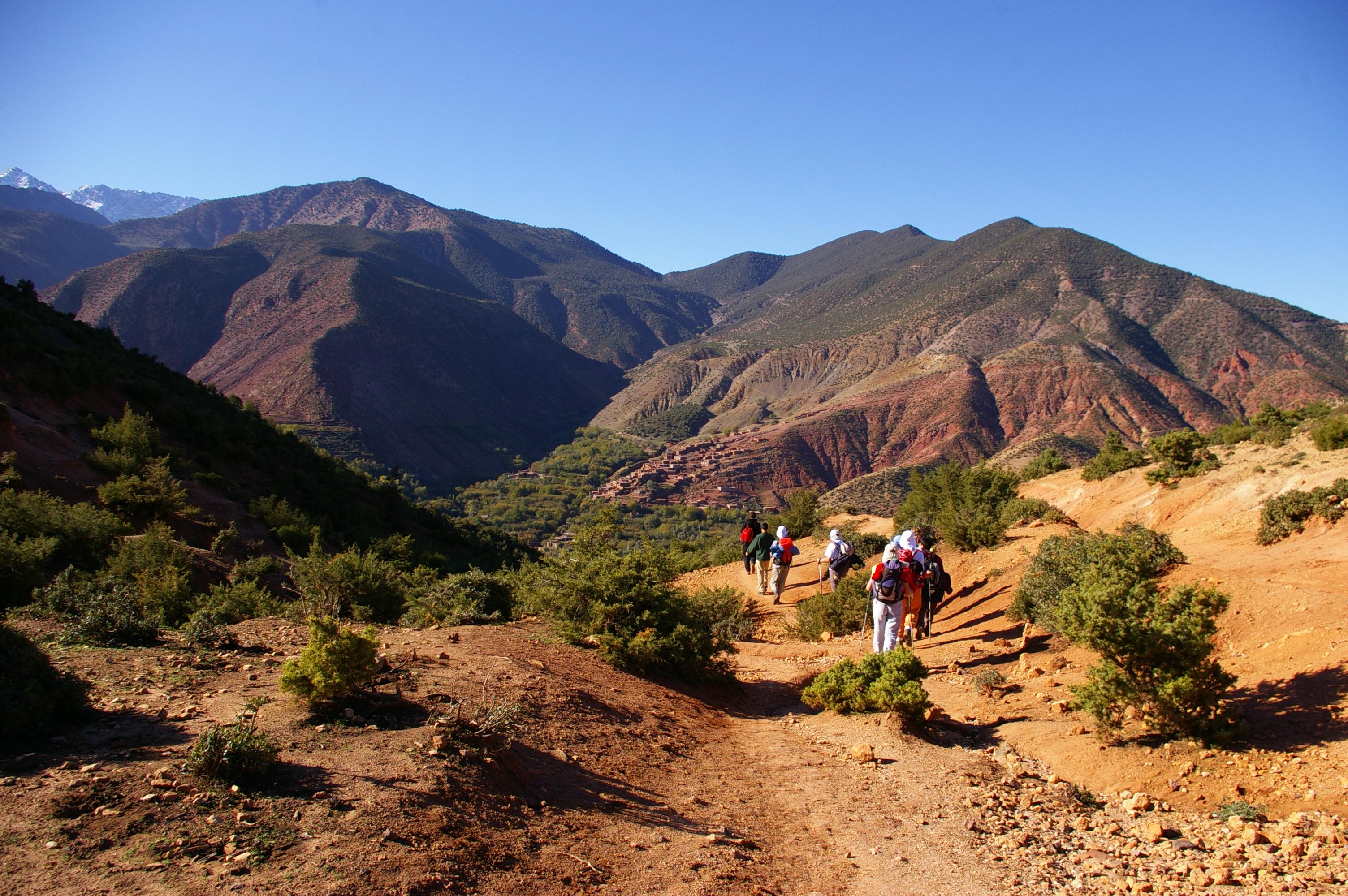 mountain hikes Morocco