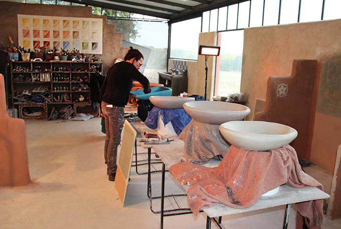 Tadelakt workshop, Morocco