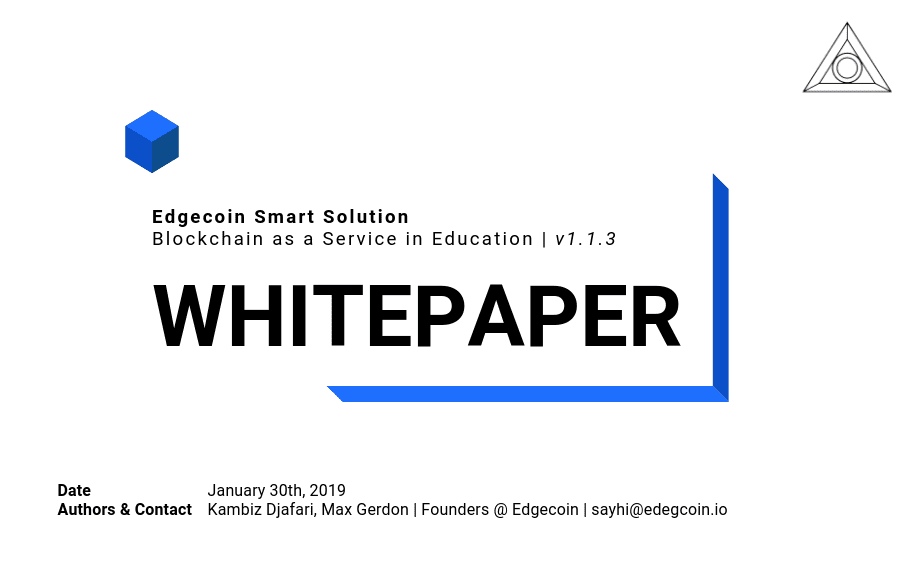 Edgecoin Smart Solutions Whitepaper Cover