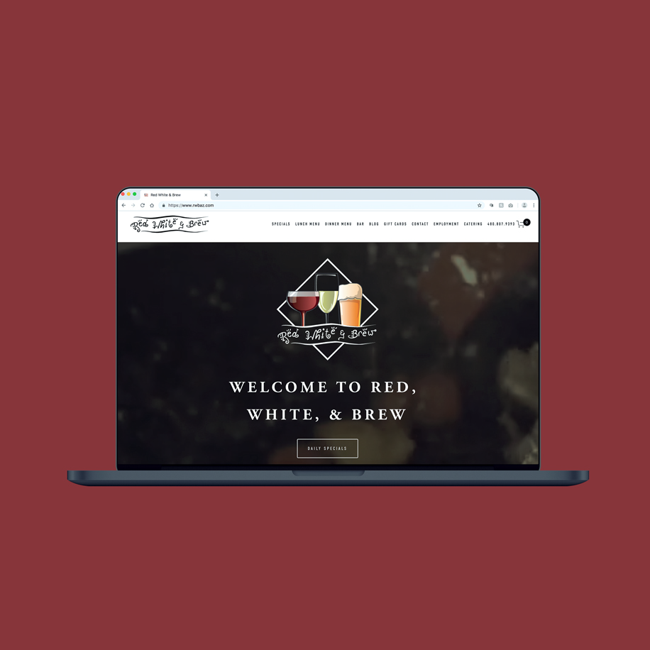 Red, White & Brew Website