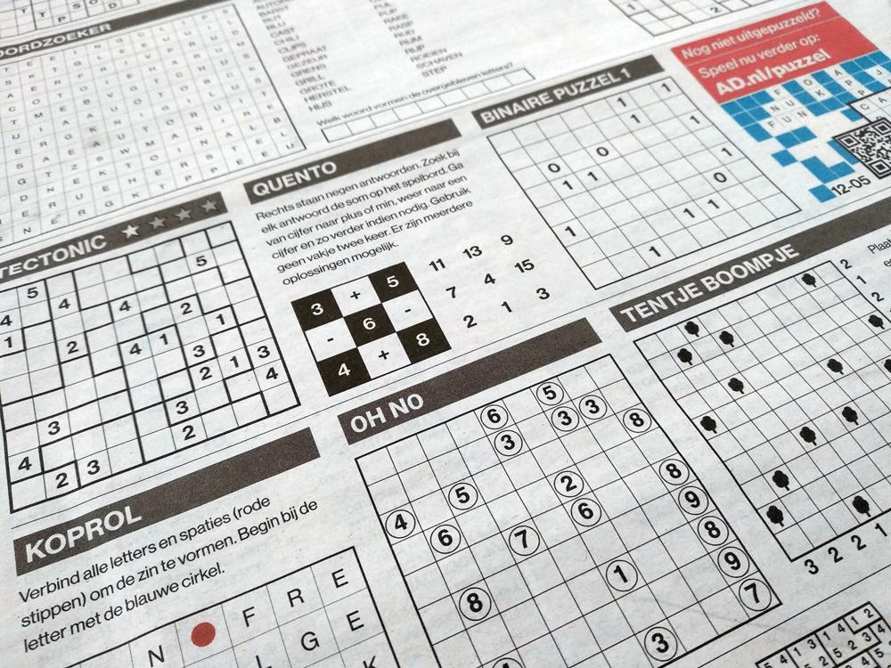 A printed newspaper