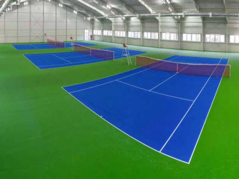 Tennisnetz, Doppelreihen,Rot