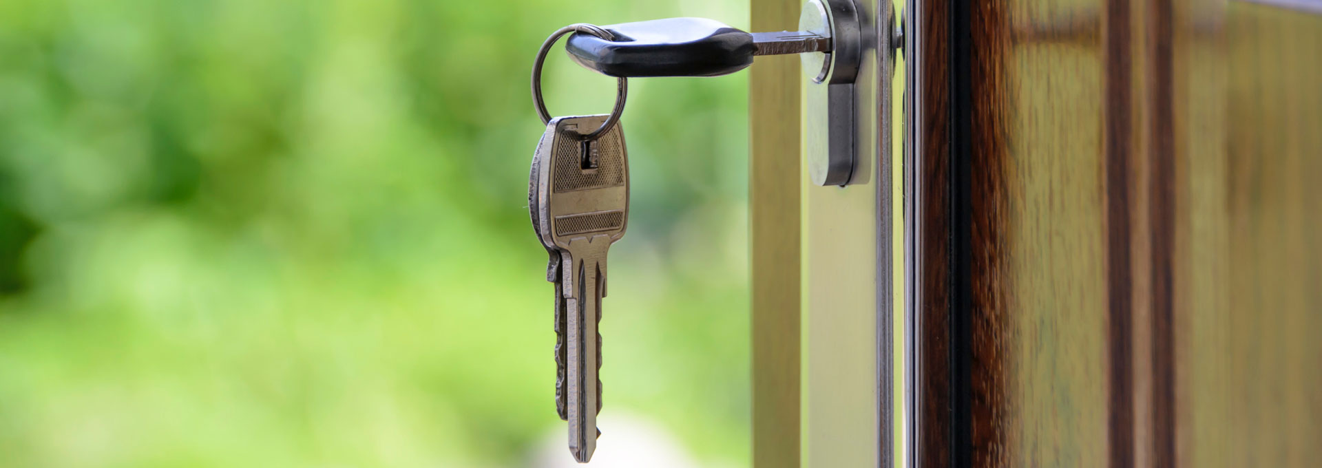 key in front door lock