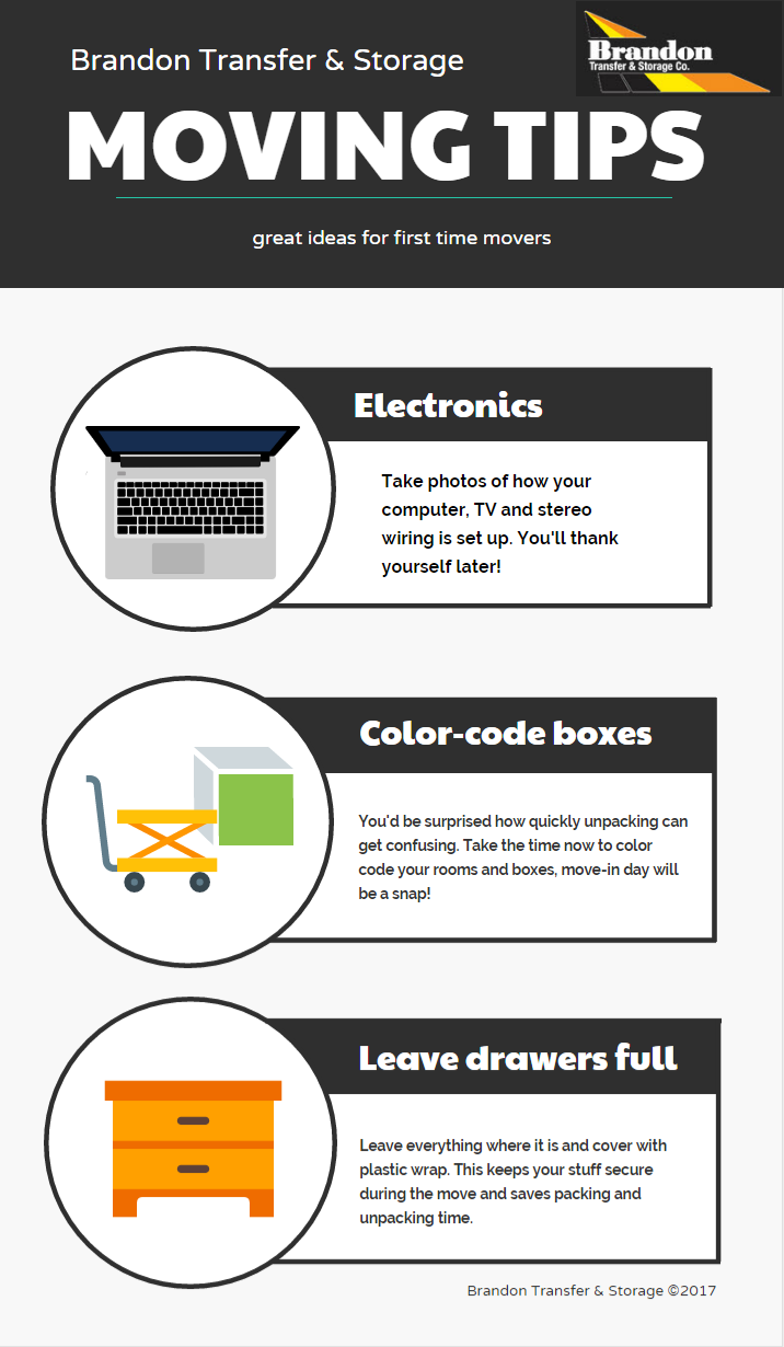 Moving Tips infographic