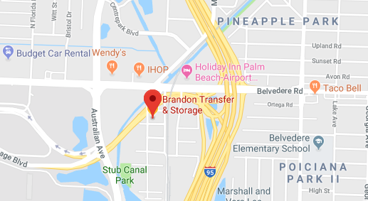 Brandon Beach Florida Map.Movers West Palm Beach Brandon Transfer Storage