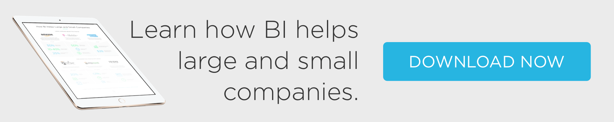 how BI helps large and small companies infographic