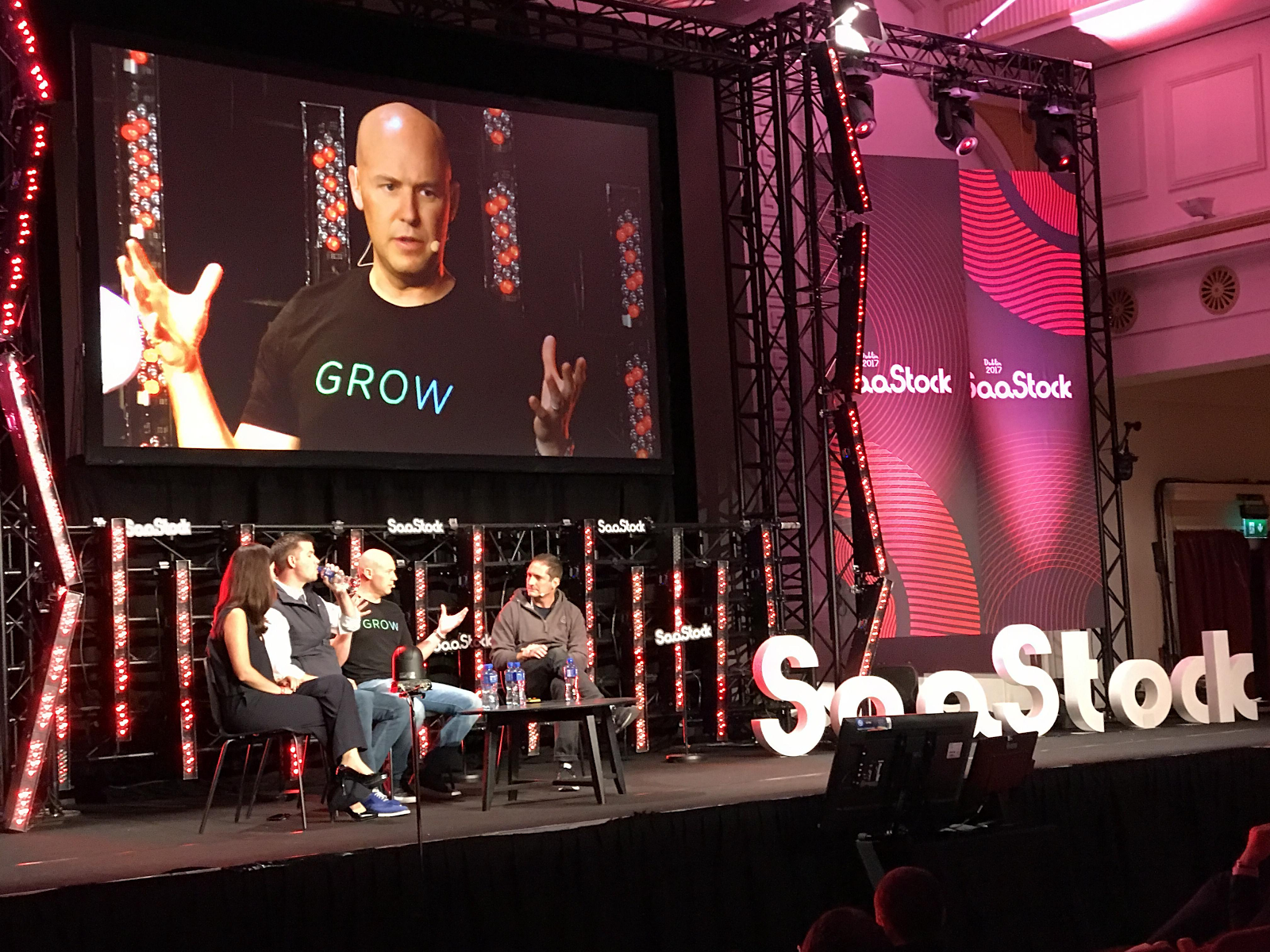 Grow CEO Rob Nelson talking at SaaStock