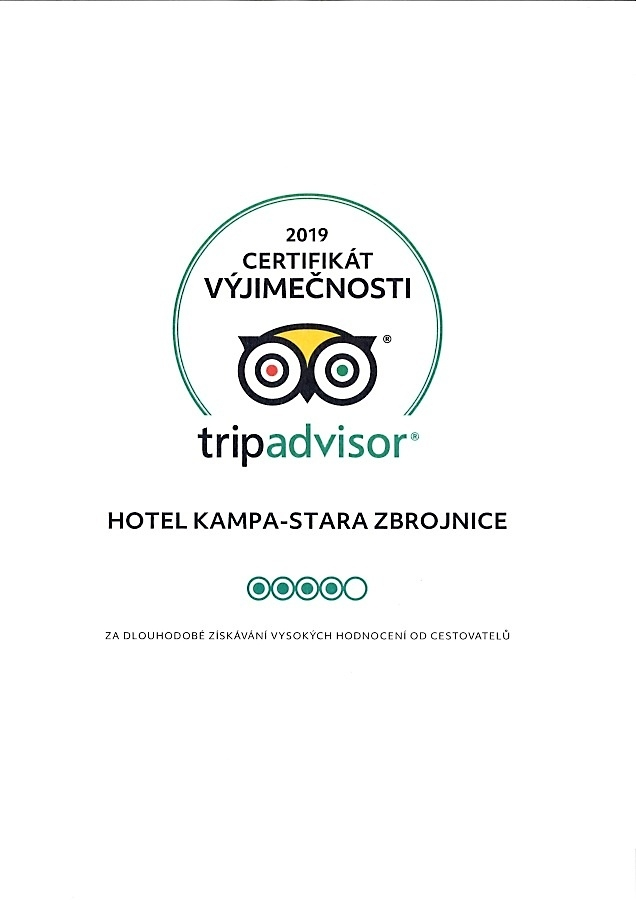 2019 Certificate of Excellence awarded to Hotel Kampa-Old Armoury