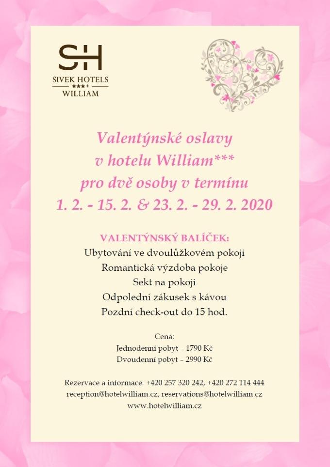 Valentýnský balíček - Hotel William ***+