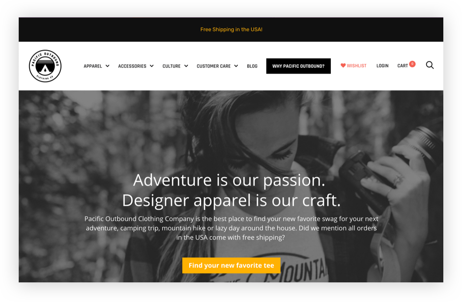 Pacific Outbound Website