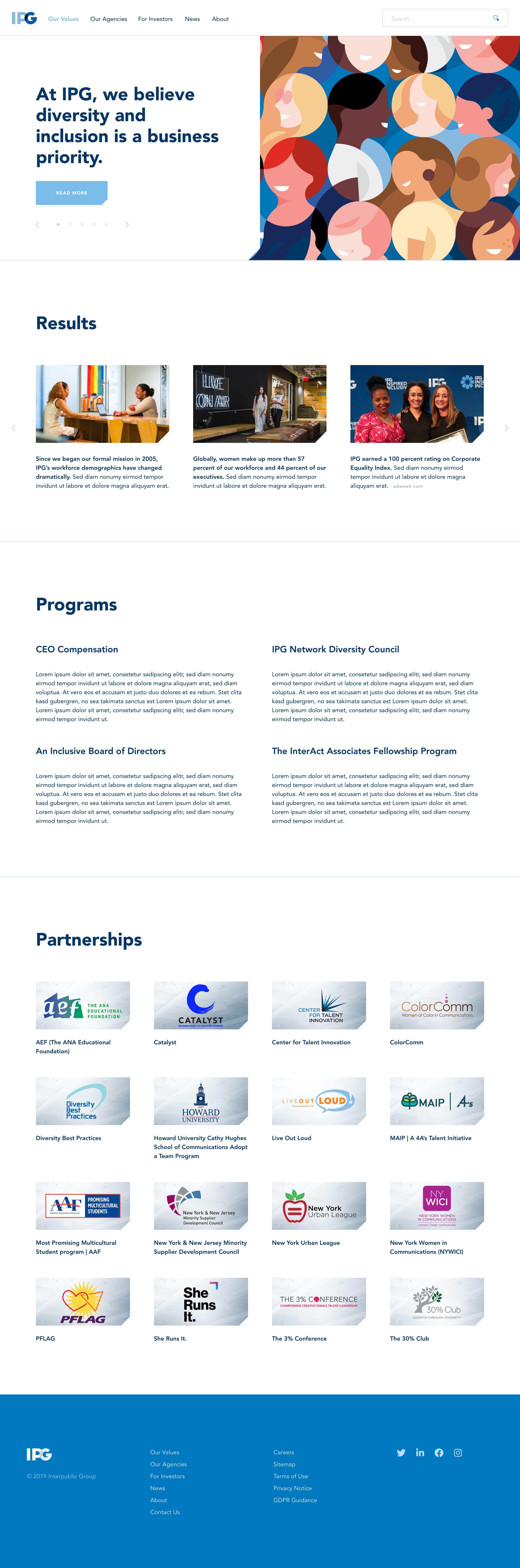 Diversity & Inclusion page