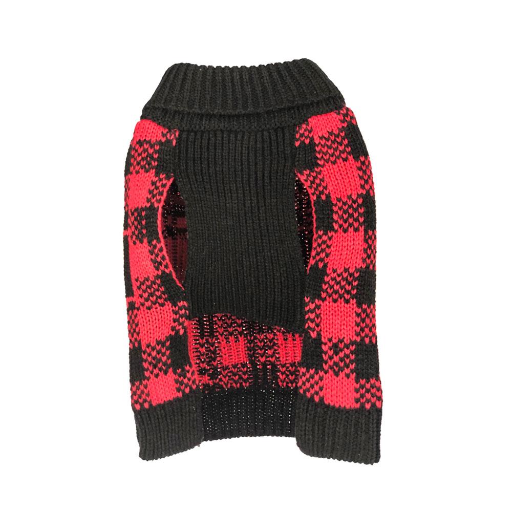 Buffalo Plaid Moose Sweater