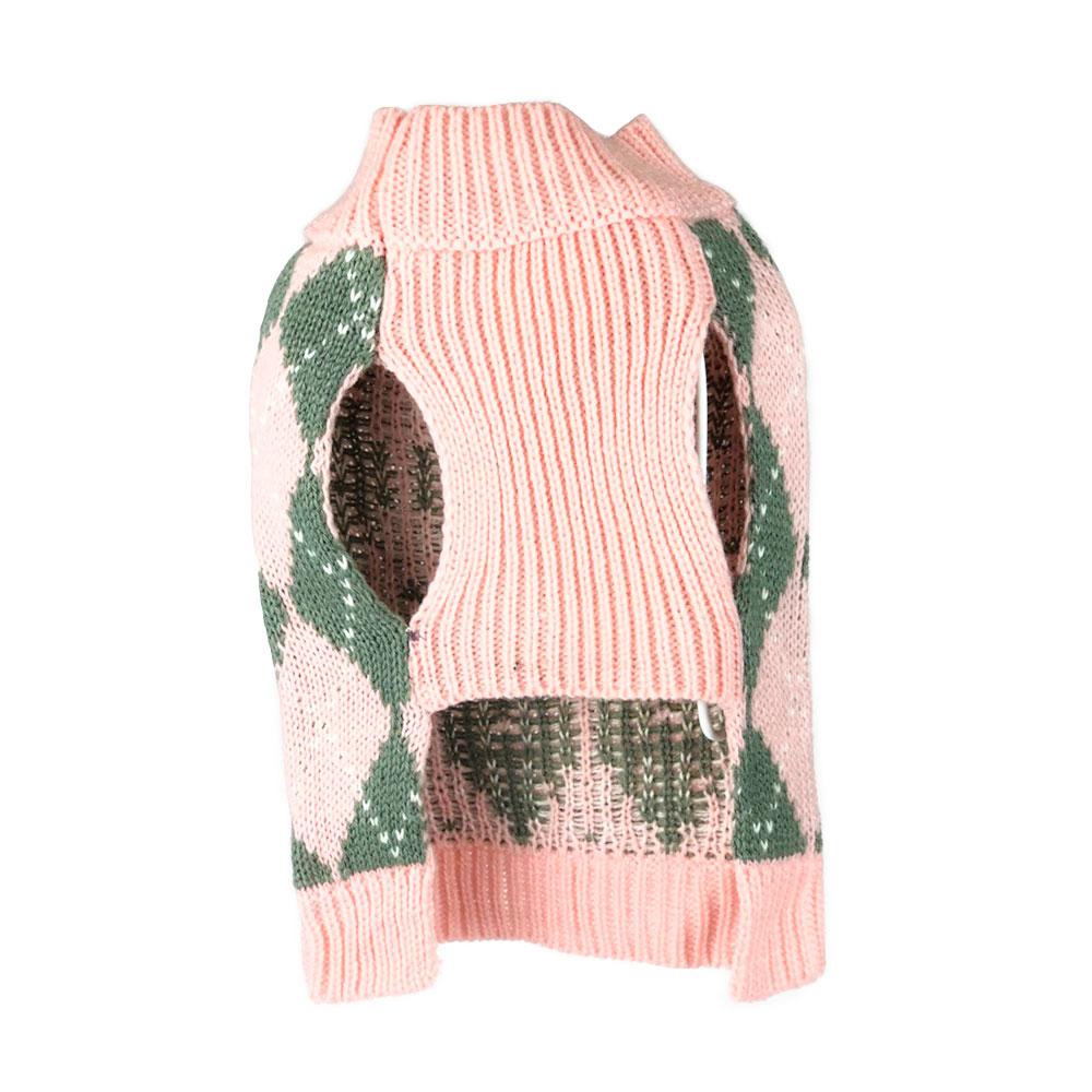 Pink Argyle Sweater
