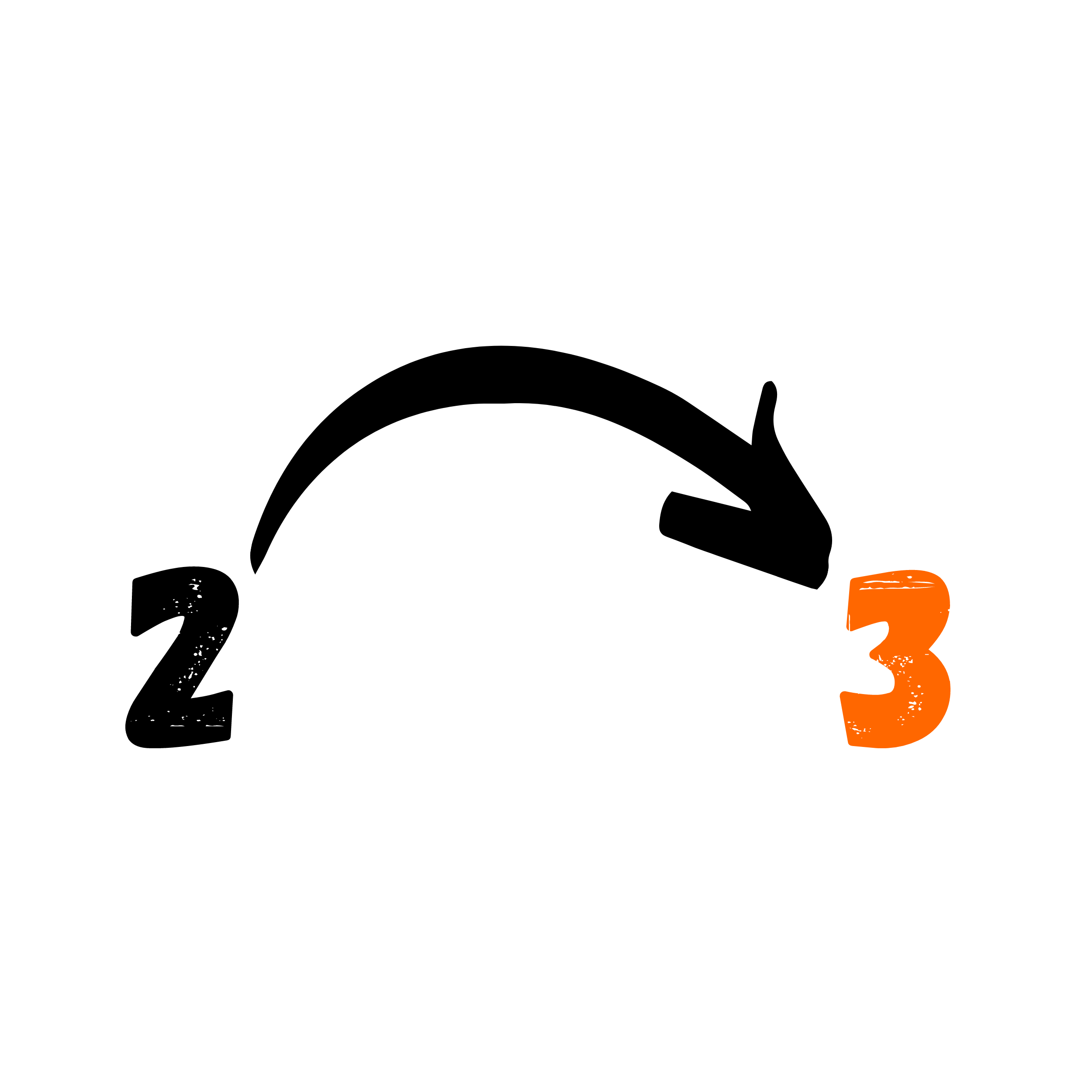 Übergang von 2 zu 3