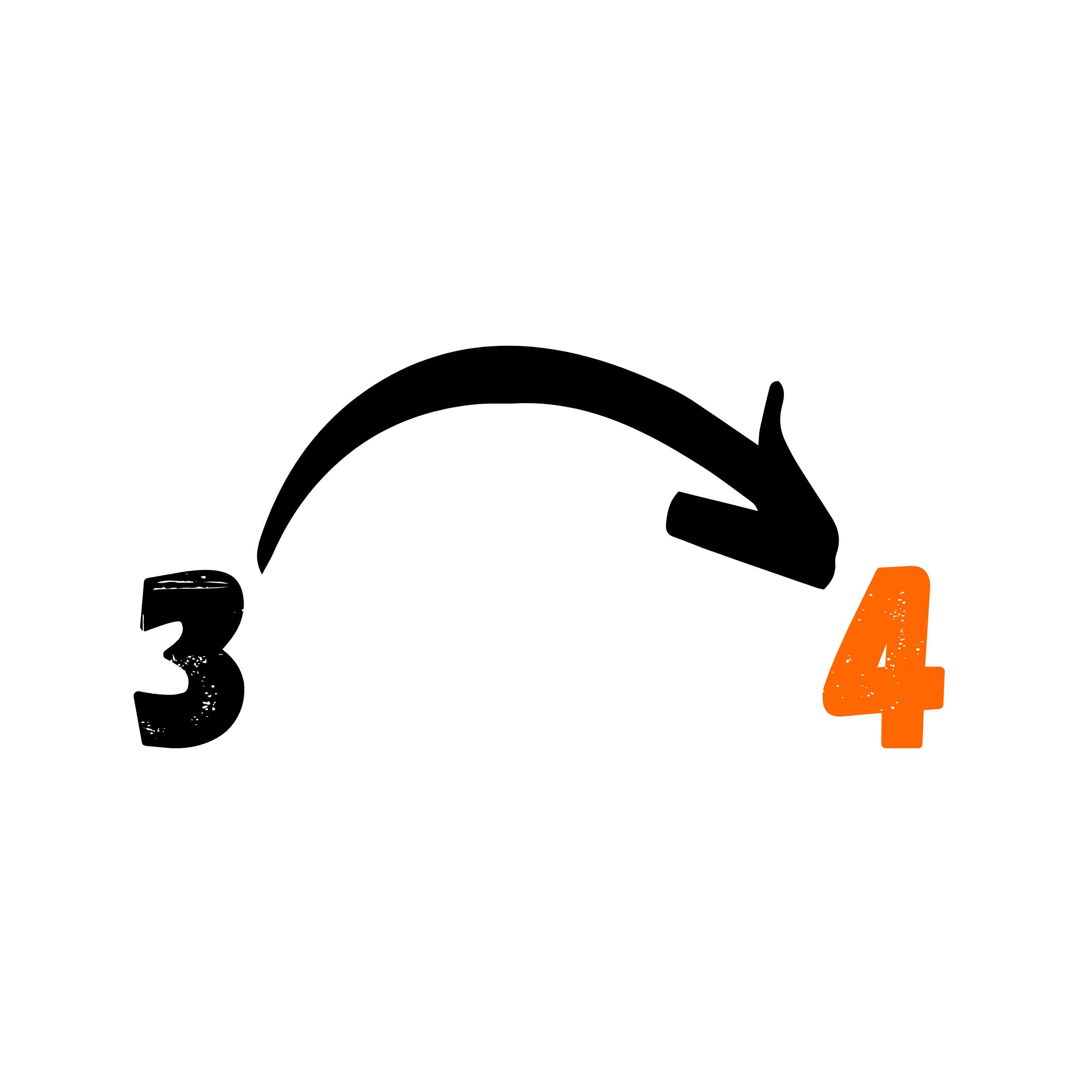 Übergang von 3 zu 4