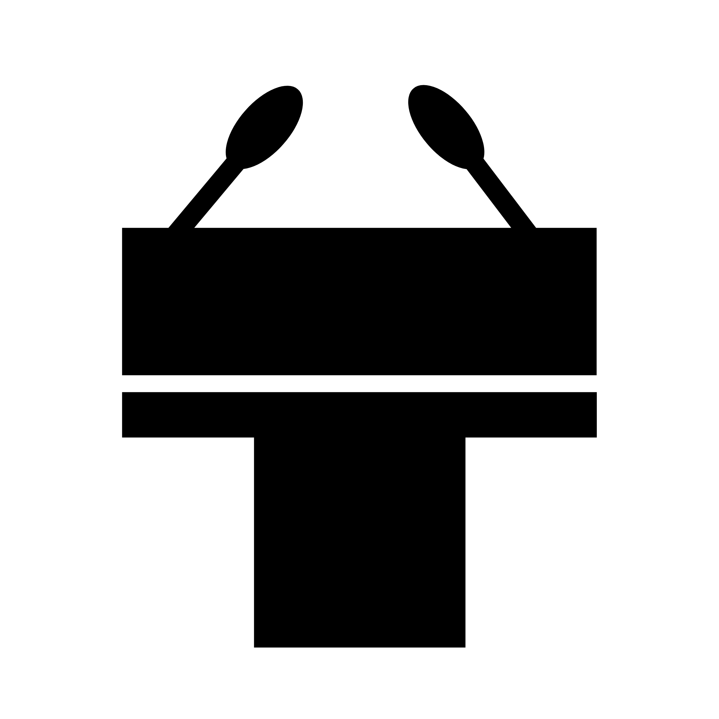 Ein Graphic eines Rednerpultes