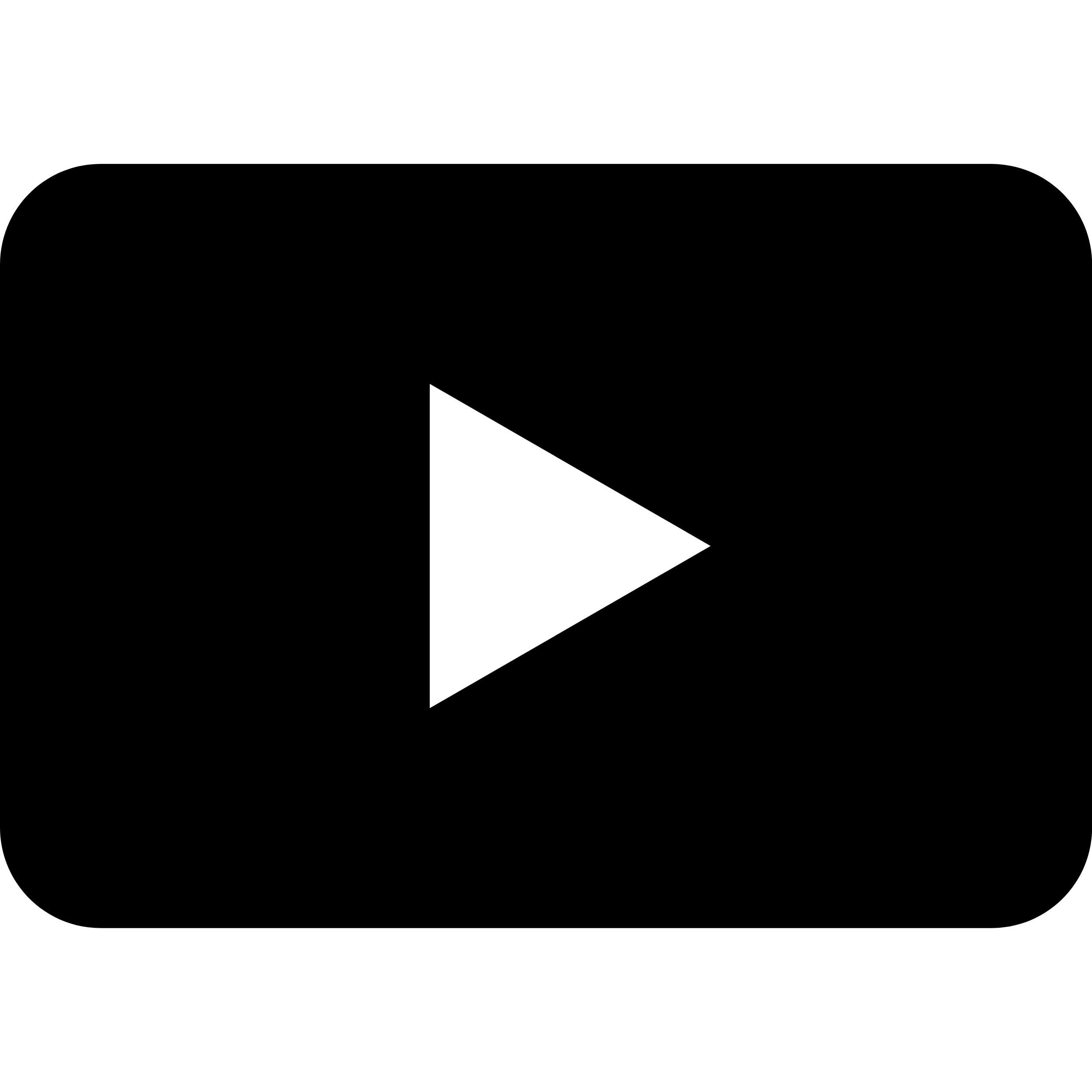 Schwarzes Youtube Video Icon