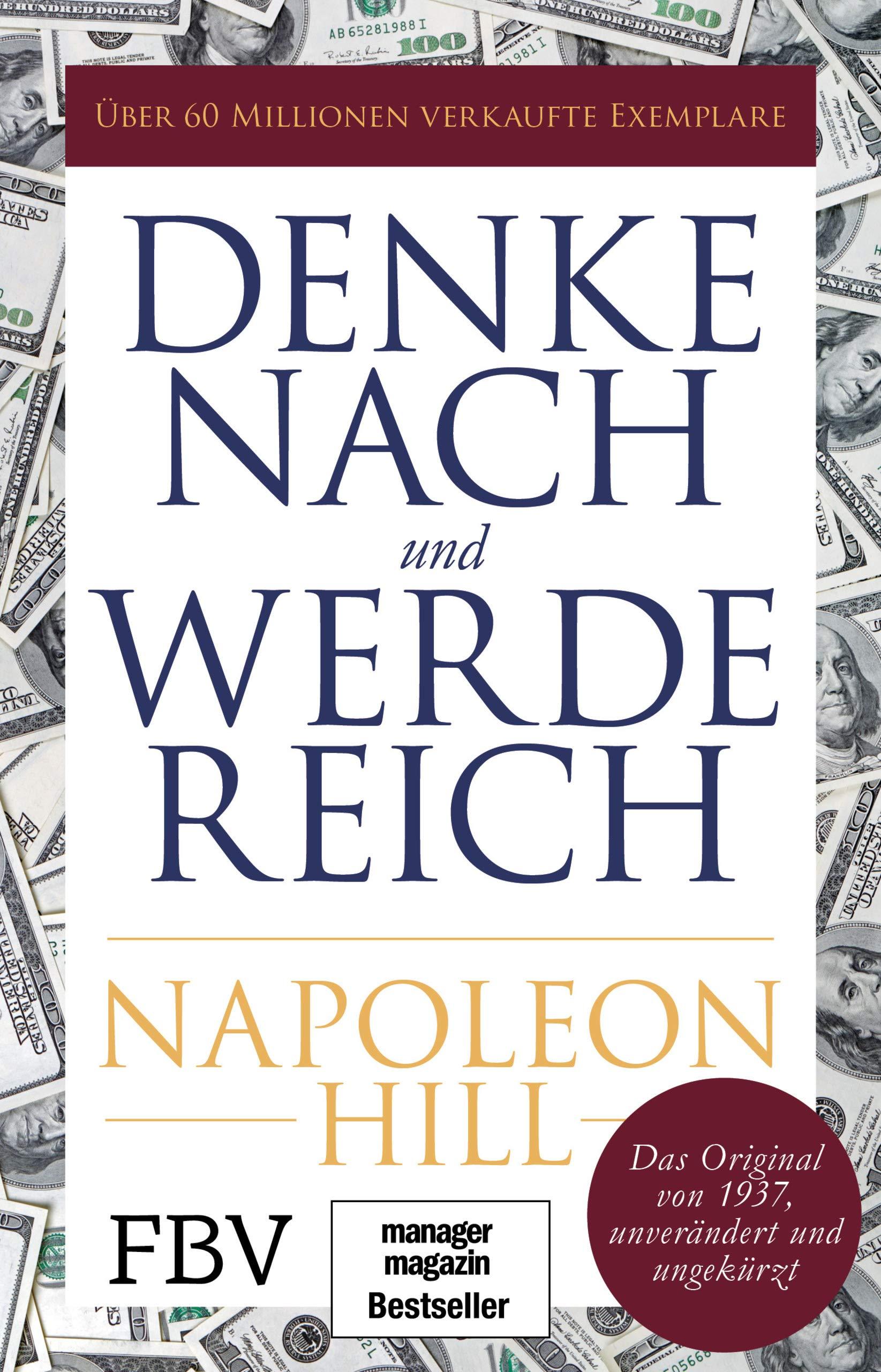 """Cover des Buchs """"Denke nach und werde reich"""" von Napoleon Hill"""