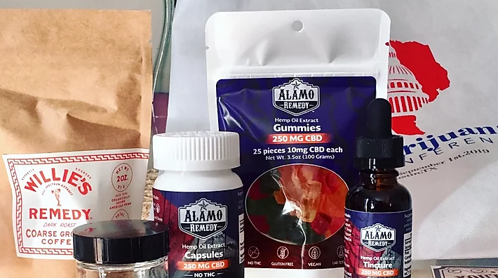 assortment of hemp and marijuana products