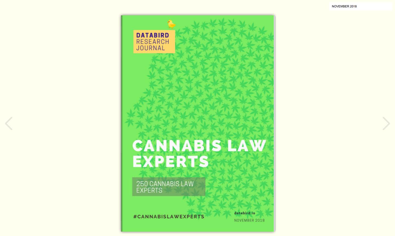 250 Cannabis Law Experts – DataBird Business Journal