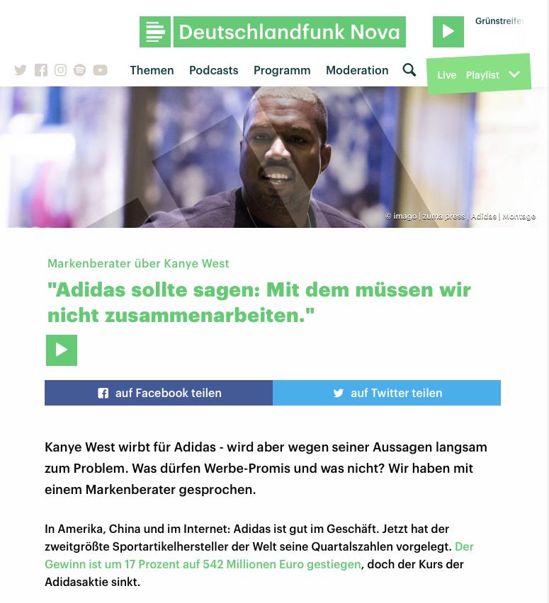 Kanye West als Markenbotschafter für Adidas?