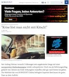 Volkswagen im Expertencheck: Krise löst man nicht mit Kitsch!
