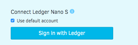 Sign in with Ledger