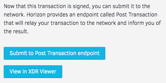 Submit Transaction