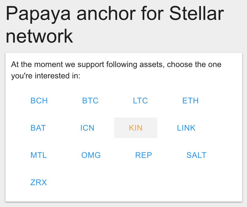 Select KIN on Papaya
