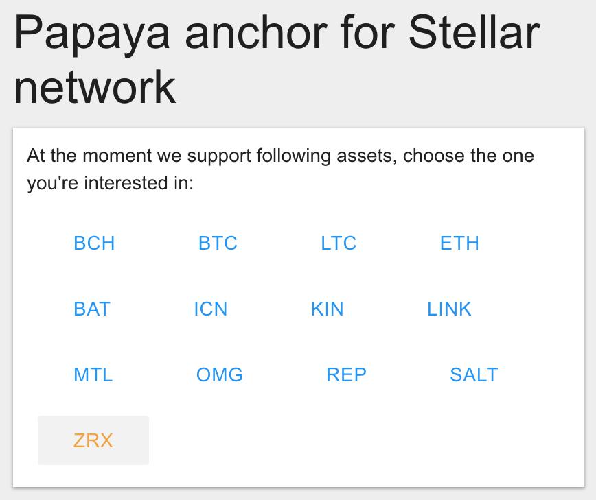 Select ZRX on Papaya